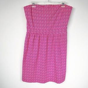 Vineyard Vines Pink & White Whale Tail Dress